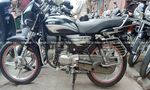 Hero Splendor Plus Self Start Drum Brake Alloy Wheel Rear View