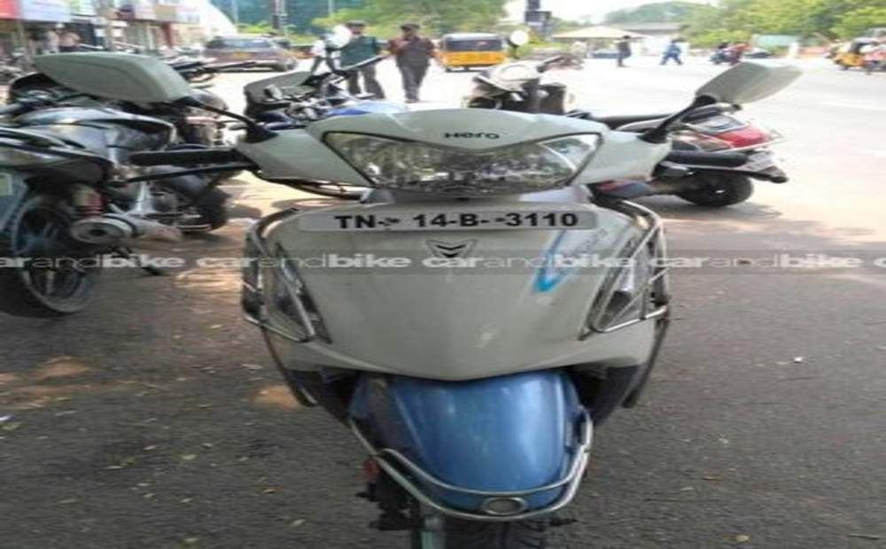 Hero Pleasure Self Start Drum Brake Front View