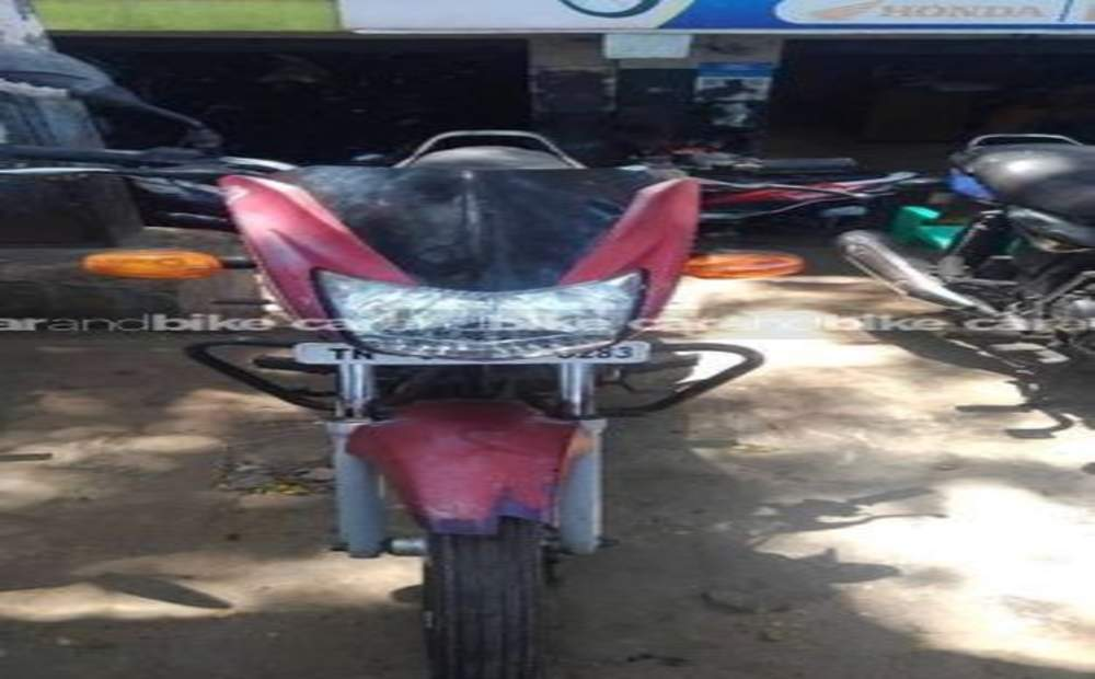 Tvs Sport Silver Alloy Edition Front View