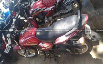 Tvs Sport Silver Alloy Edition Rear View