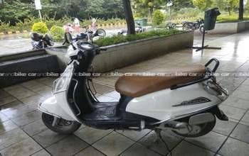 Suzuki Access 125 Drum Brake Rear View