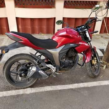Suzuki Gixxer Sf Rear View