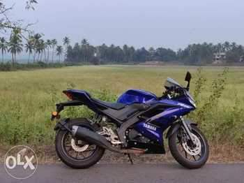 Yamaha Yzf R15s Rear View
