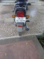 Hero Honda Splendor Super Rear View