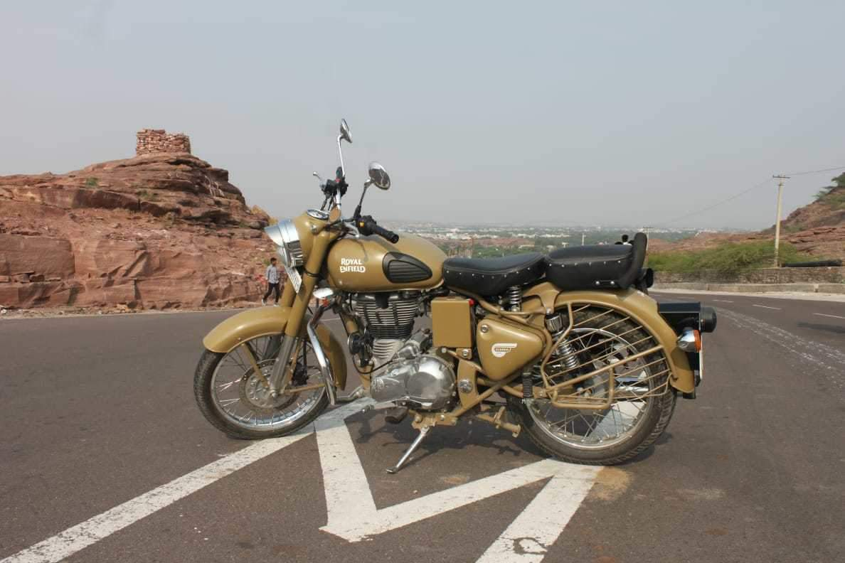 Royal Enfield Classic Desert Storm Rear View