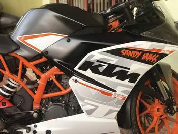 Ktm Rc 200 Rear View