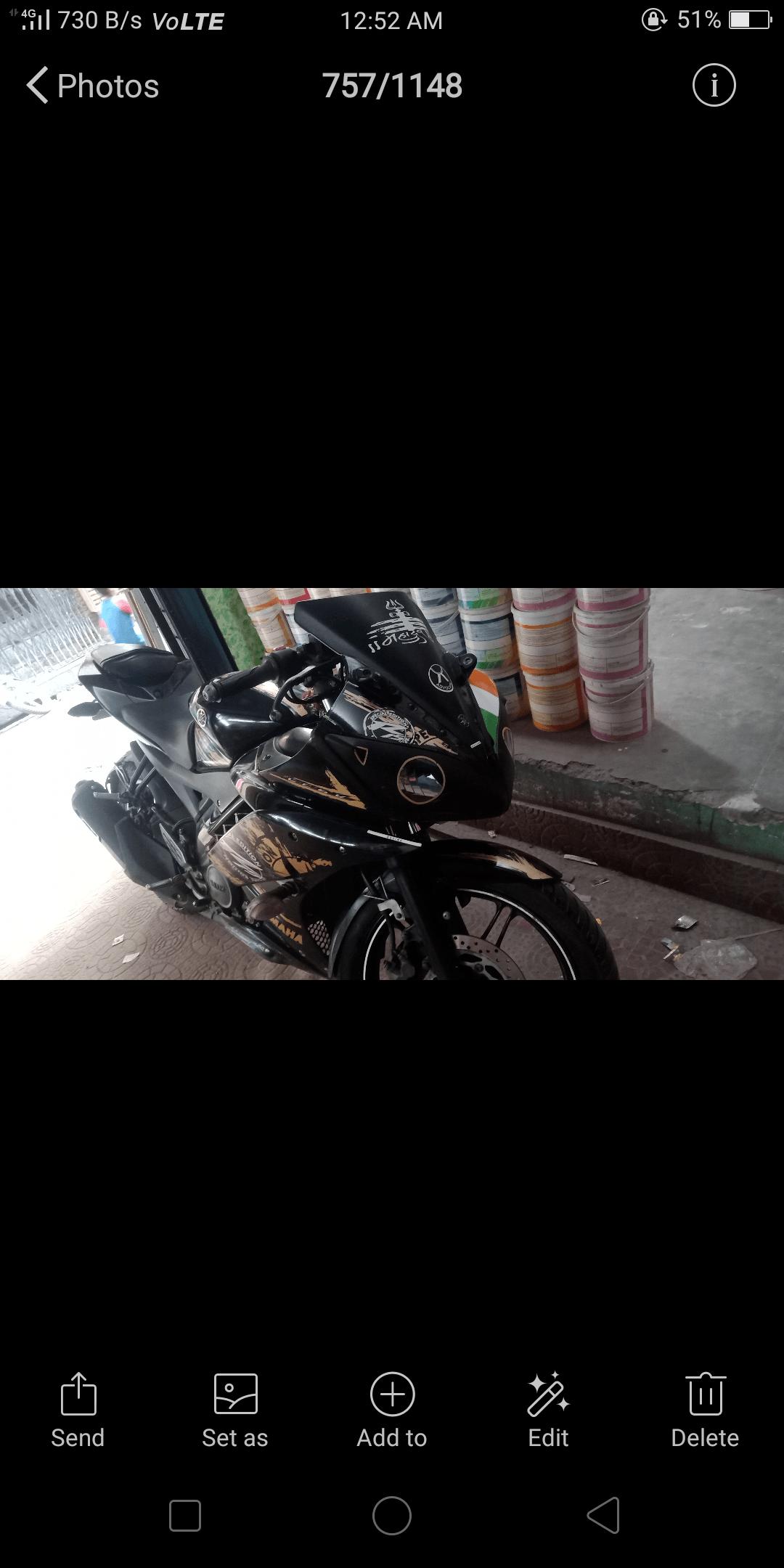 Yamaha Yzf R15 V20 Rear View