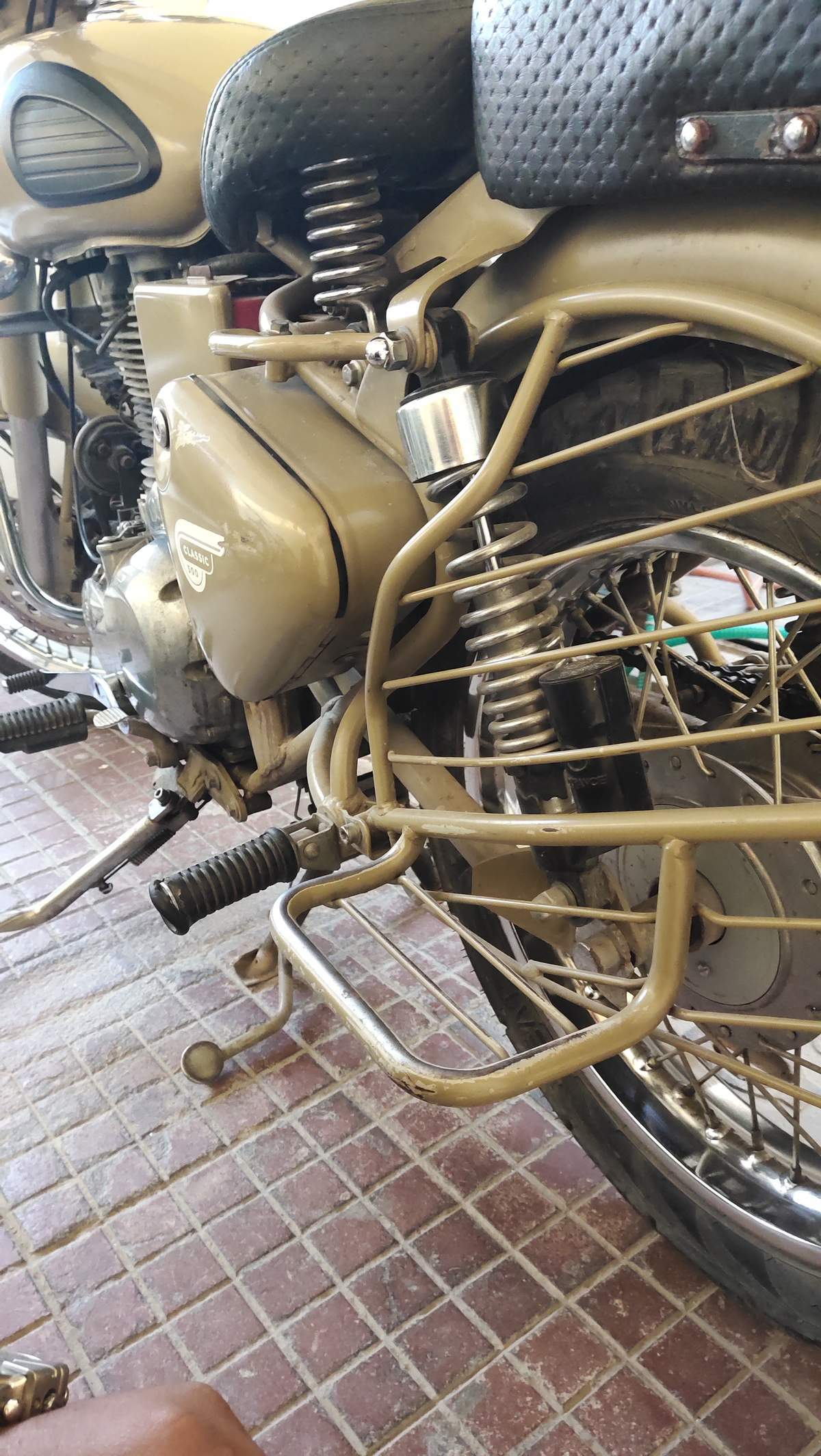 Royal Enfield Classic Desert Storm Front View