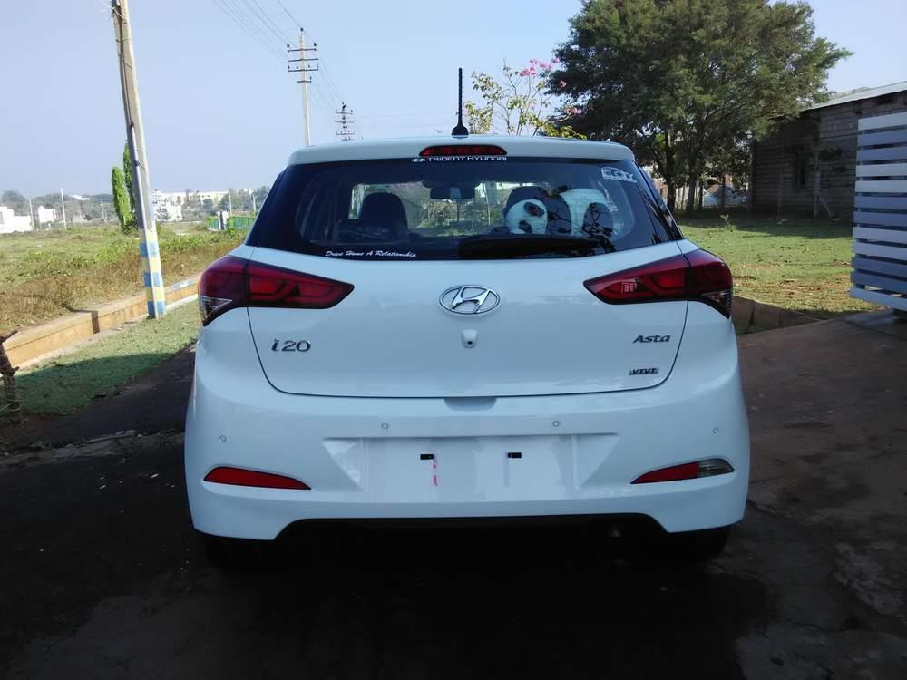 Hyundai Elite I20 Rear View
