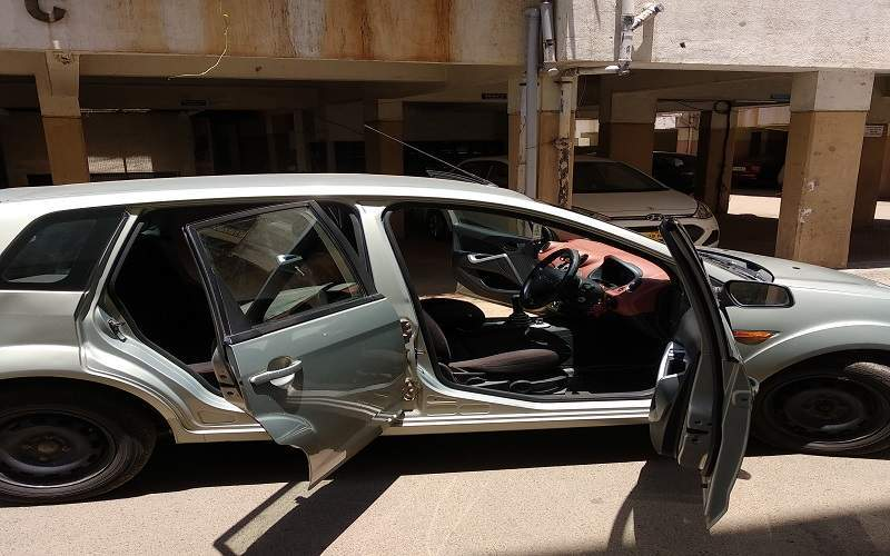 Ford Figo Rear Left Side Angle View