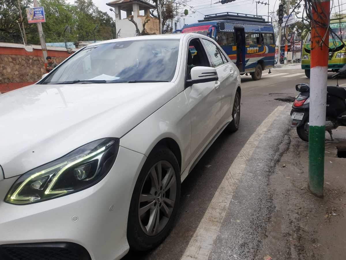 Mercedes Benz E Class Rear Left Side Angle View